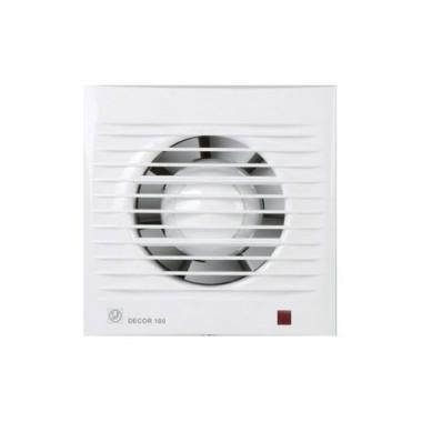 Вентилятор  DECOR 100CH таймер времени + датчик влажности