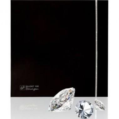 вентилятор SILENT 100 CZ DESIGN BLACK вставка сваровского