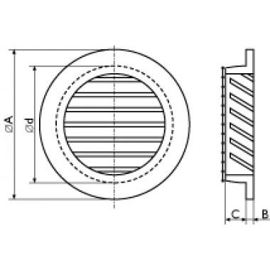 Решетка потолочная ячейка