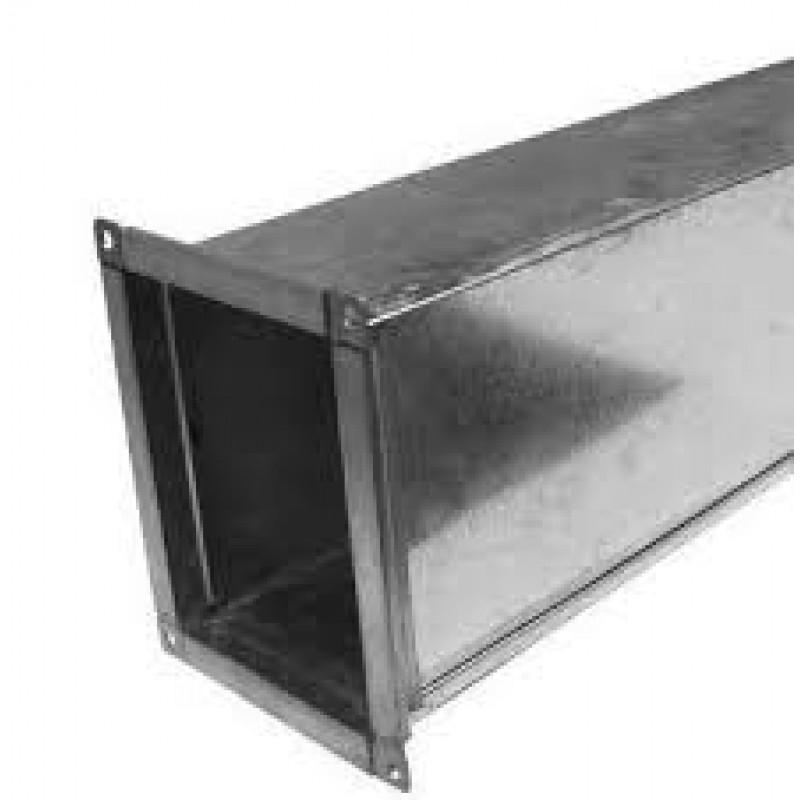 Воздуховод прямоугольный из оцинкованной стали 100х100 500мм