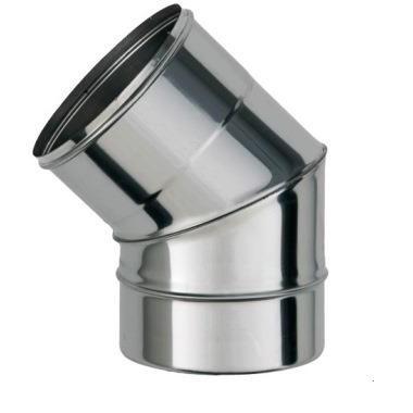 Отвод (угол45) 100ф из нержавеющей стали