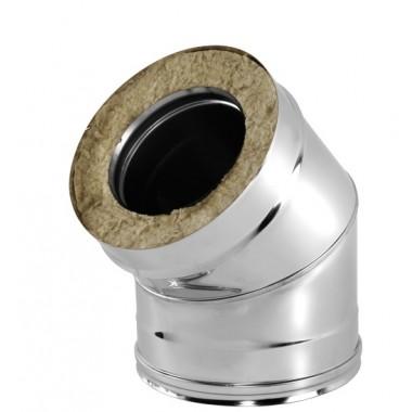 СЕНДВИЧ колено (отвод,угол 45) 160х250 нержавейка+оцинковка