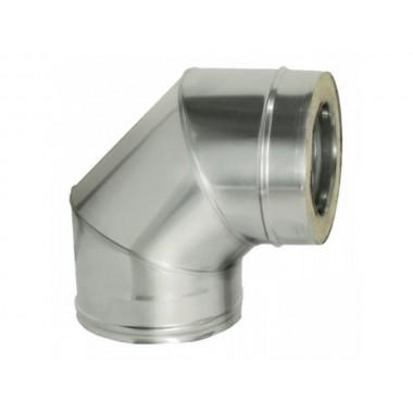 СЕНДВИЧ колено (отвод,угол 90) 150х250 нержавейка+оцинковка