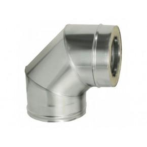 СЕНДВИЧ колено (отвод,угол 90) 160х250 нержавейка+оцинковка