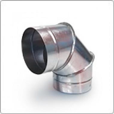 Отвод (угол 90) 80ф из оцинкованной стали