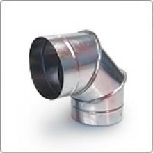 Отвод (угол 90) 130 из оцинкованной стали
