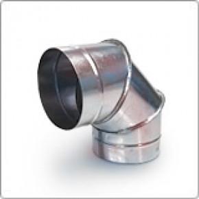 Отвод (угол 90) 125ф из оцинкованной стали