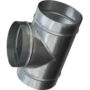 тройник т образный  125/100 из оцинкованной стали
