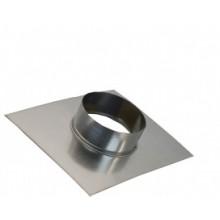 фланец-врезка 110ф из нержавеющей стали