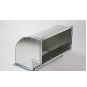 отвод прямоугольный вертикальный (90) из оцинкованной стали 300х150