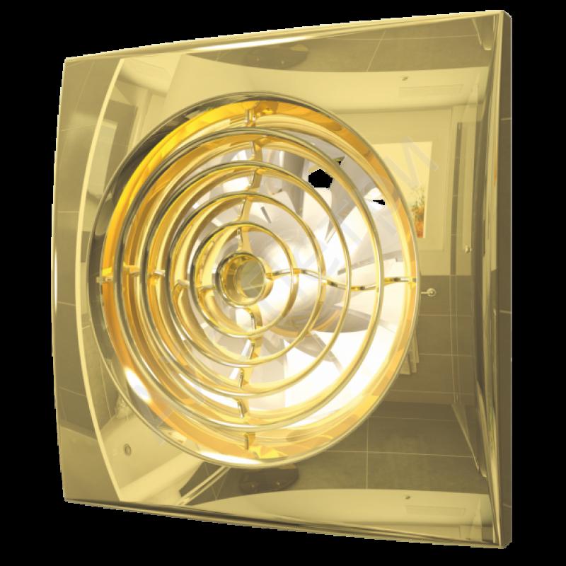Вентилятор накладной  AURA 5 c 125 gold