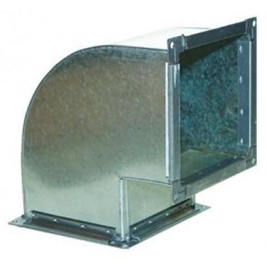 Отвод прямоугольный вертикальный (90) из оцинкованной стали 400х400