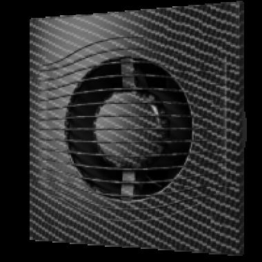 Вентилятор накладной slim 4c 100 black carbon