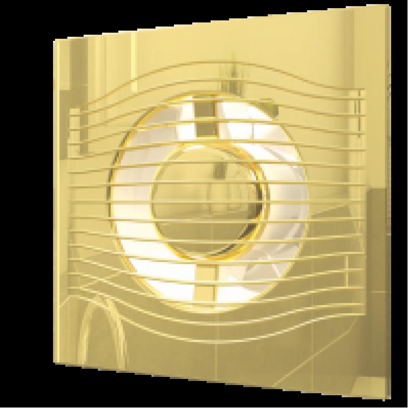 вентилятор накладной slim 4c 100 gold