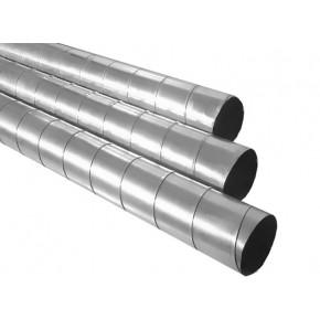 Воздуховод ф125 L-1м спирально-навивной
