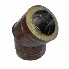 Отвод 45 100/180 н/о коричневый