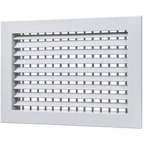 Решетка алюминиевая двухрядная с клапаном расхода воздуха АДР-М размер (150x150)