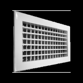 Решетка алюминиевая двухрядная регулируемая АДН размер (1000x100)